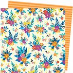 American Crafts - Picnic In The Park -  Blossom Bouquet 12 x 12 Paper